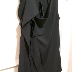 🛍️ NWT Black blouse with ruffle